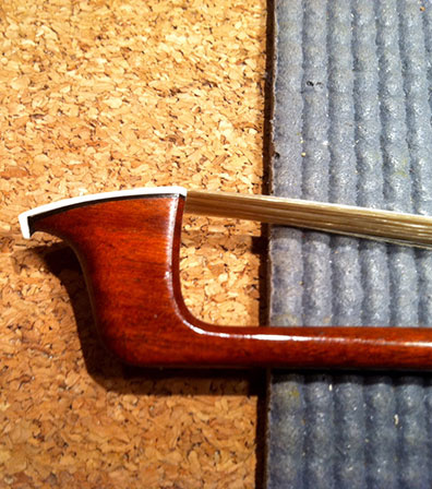 Repaired violin bow
